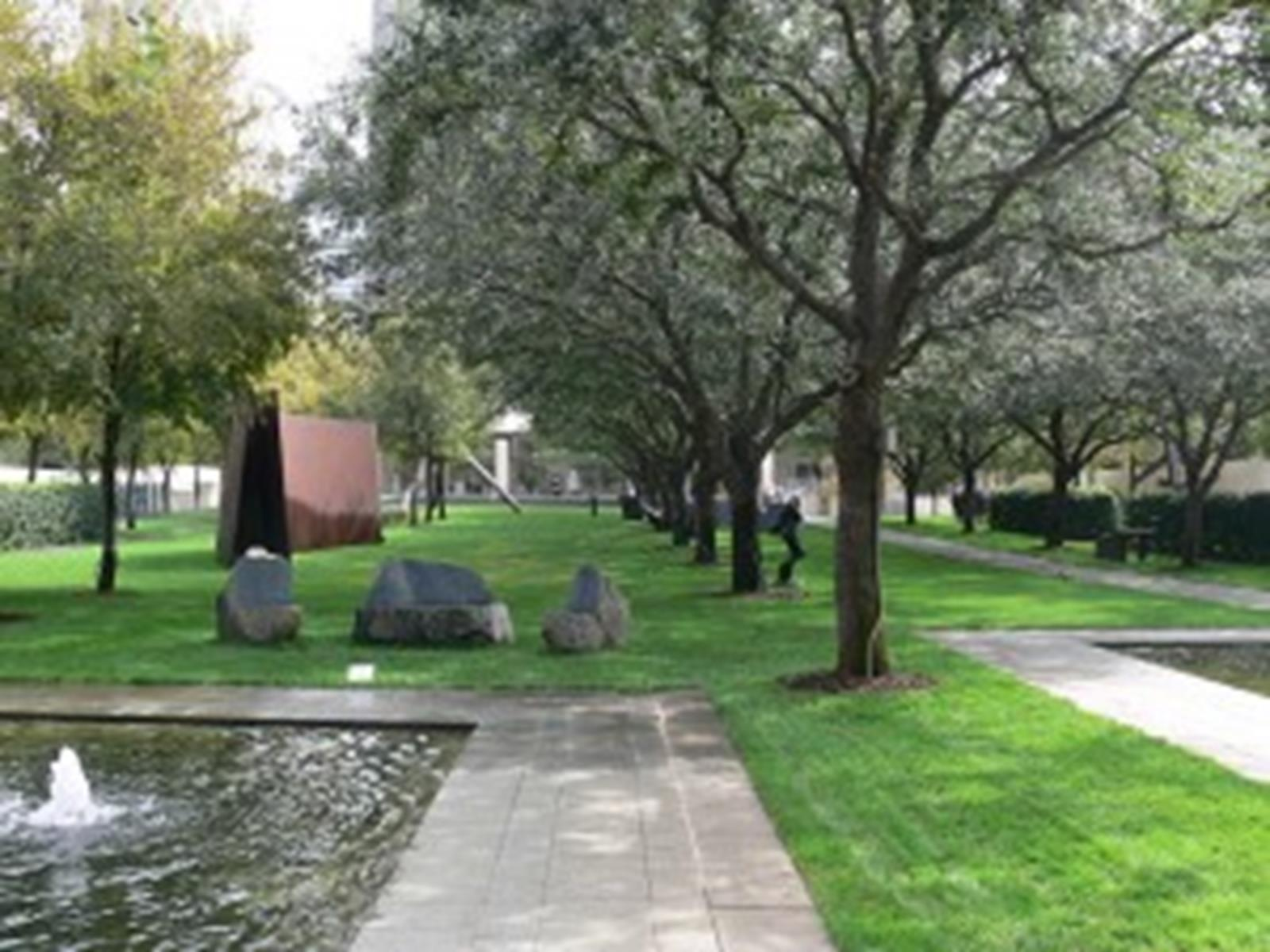 The Nasher Sculpture Garden at the Nasher Sculpture Center