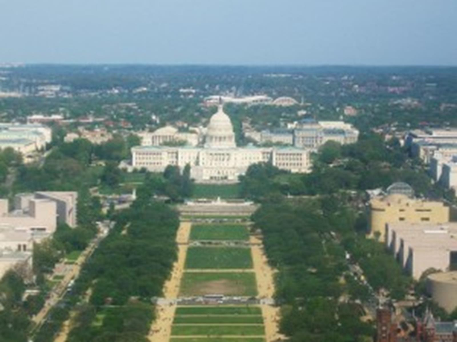 The Capitol and the National Mall from the top of the Washington Monument