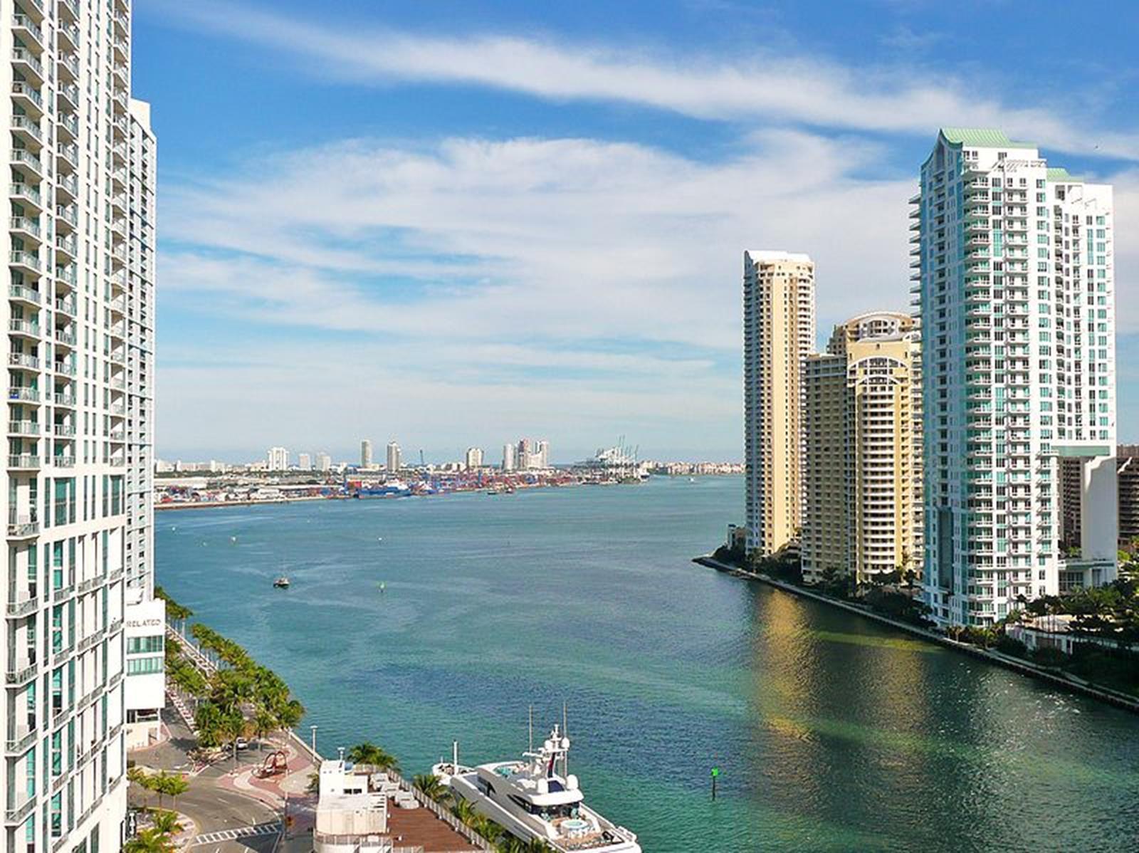 The Mouth of the Miami River in Miami, Florida