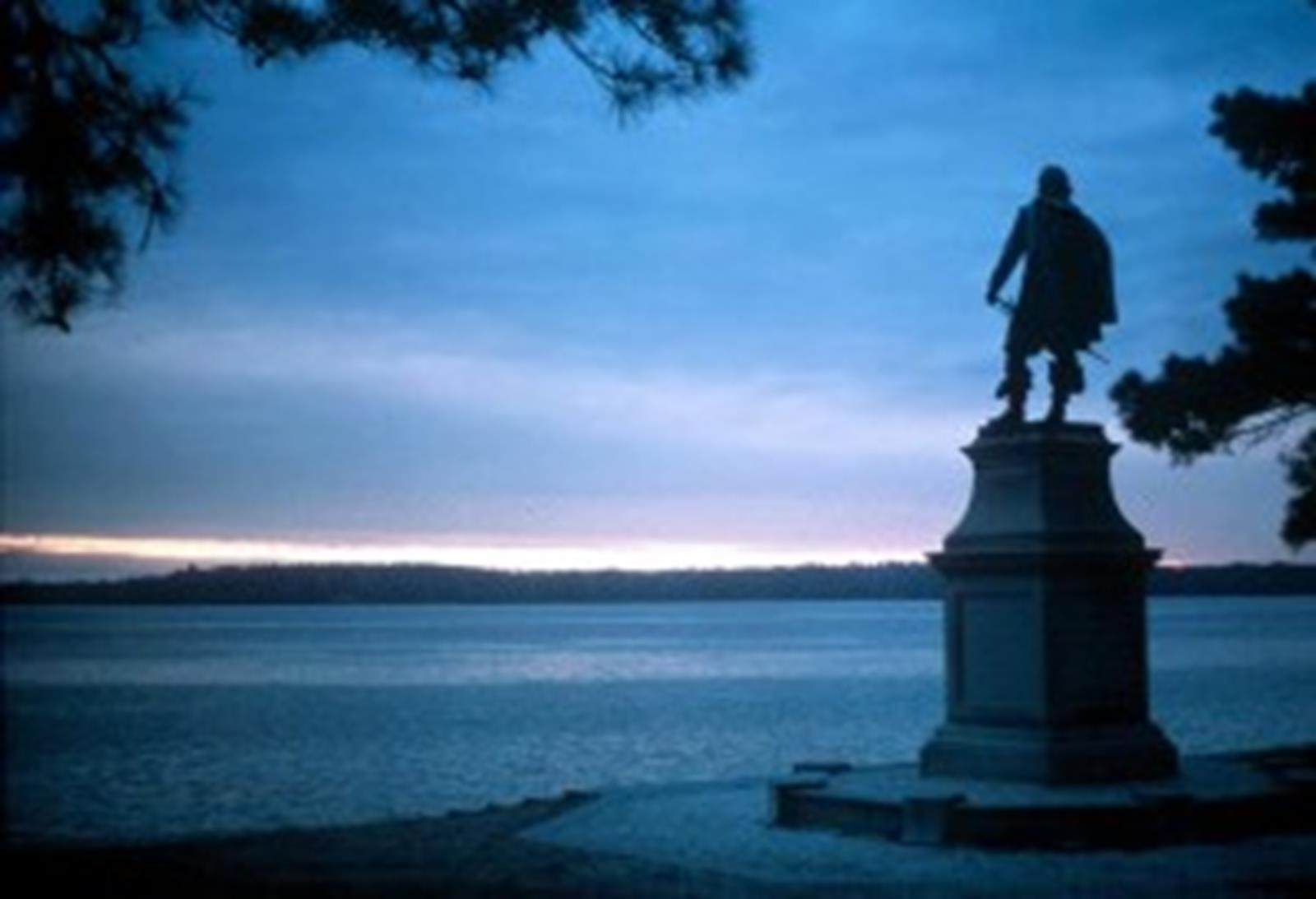 This Statue Marks the First Permanent English Settlement at Historic Jamestowne