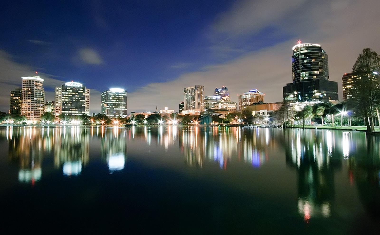 Orlando, Florida Skyline at Night