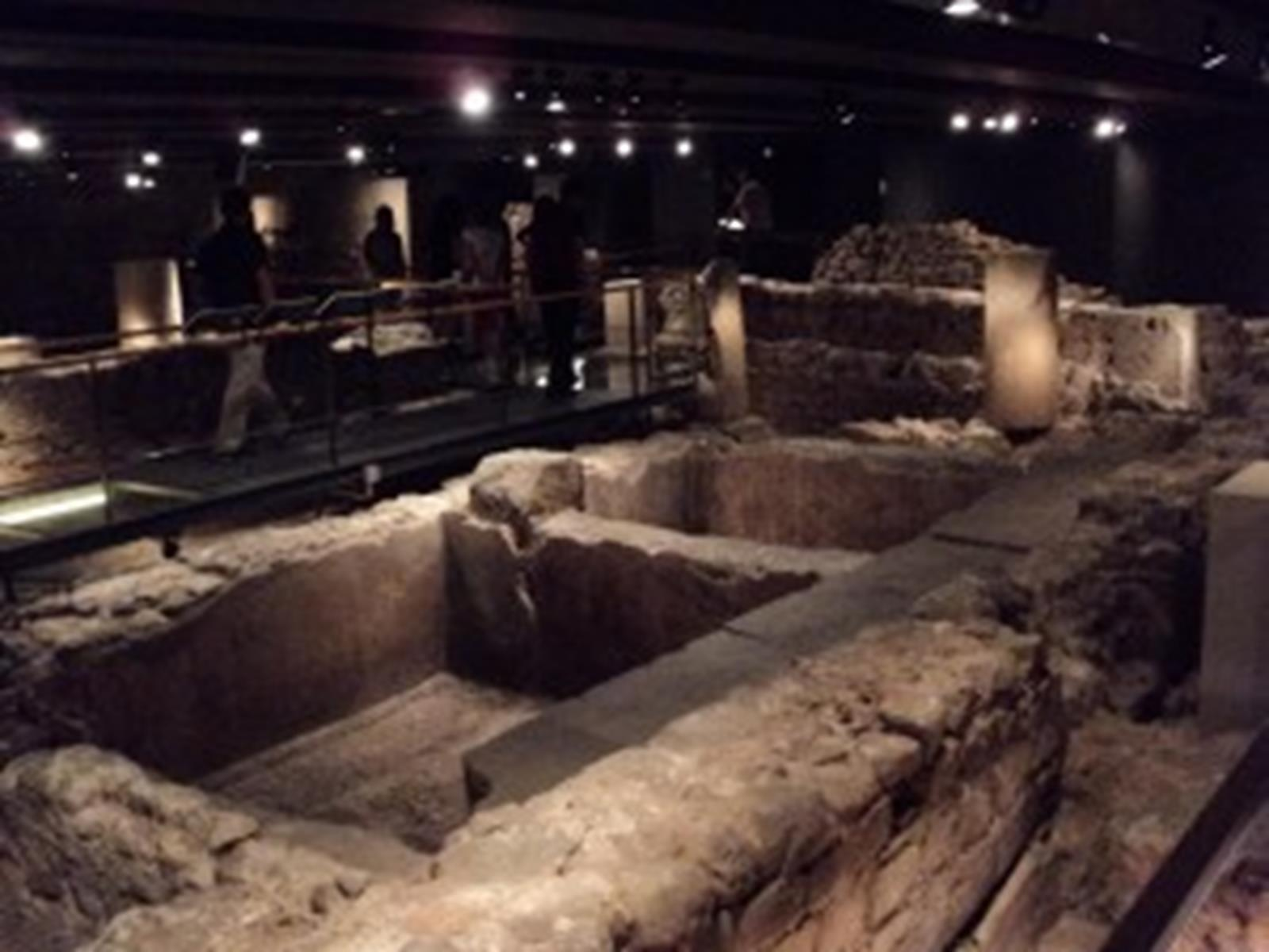 Ruins of Roman Settlement Barcino, upon which Barcelona was built.