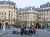Jazz played on the streets of Paris