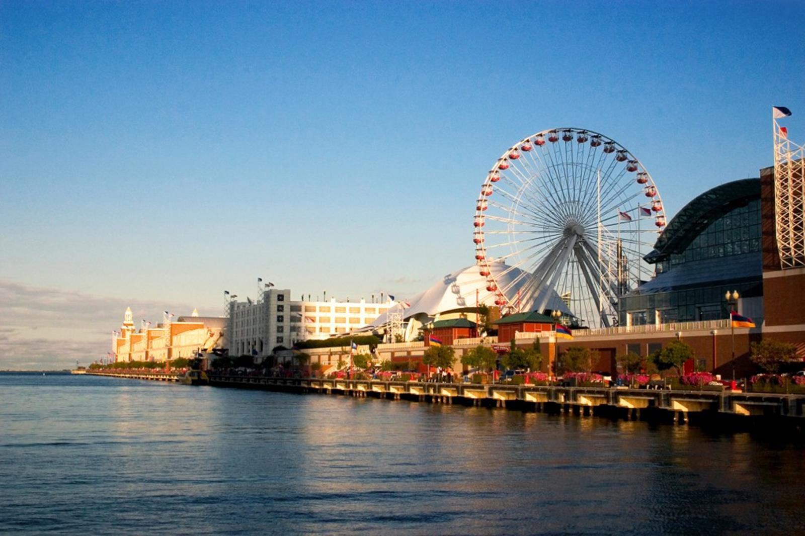 Chicago's Navy Pier from the Shoreline