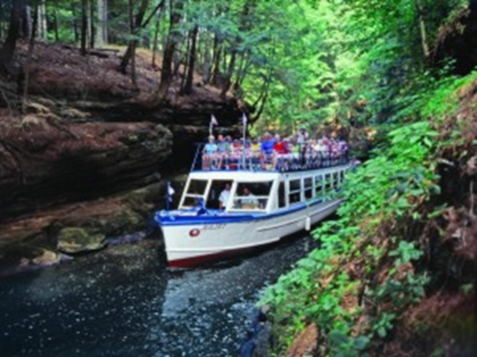 Take in the Dells natural beauty on a boat tour of the Wisconsin River.