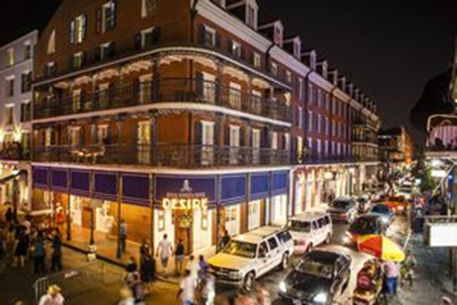 Royal Sonesta in the French Quarter. Photo from New Orleans Convention and Visitors Bureau.