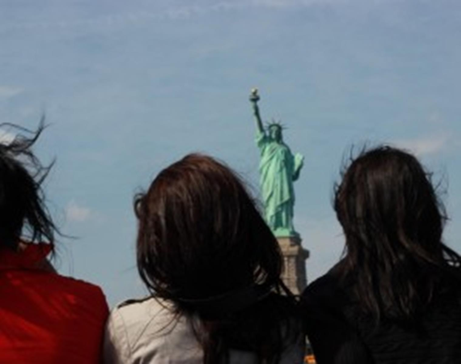Each cruise stops in front of the Statue of Liberty for photos.