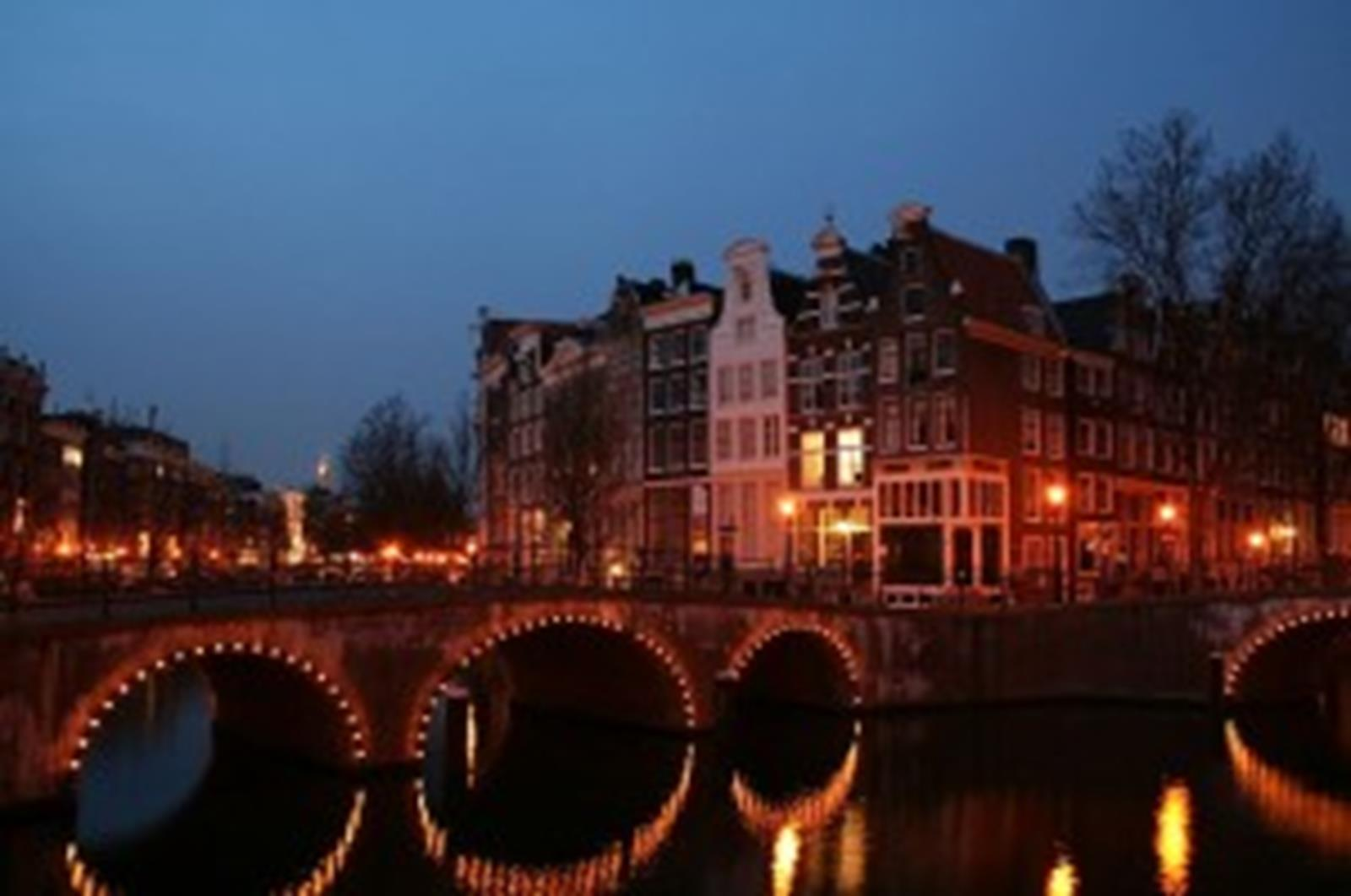 Keizersgracht in Amsterdam at night