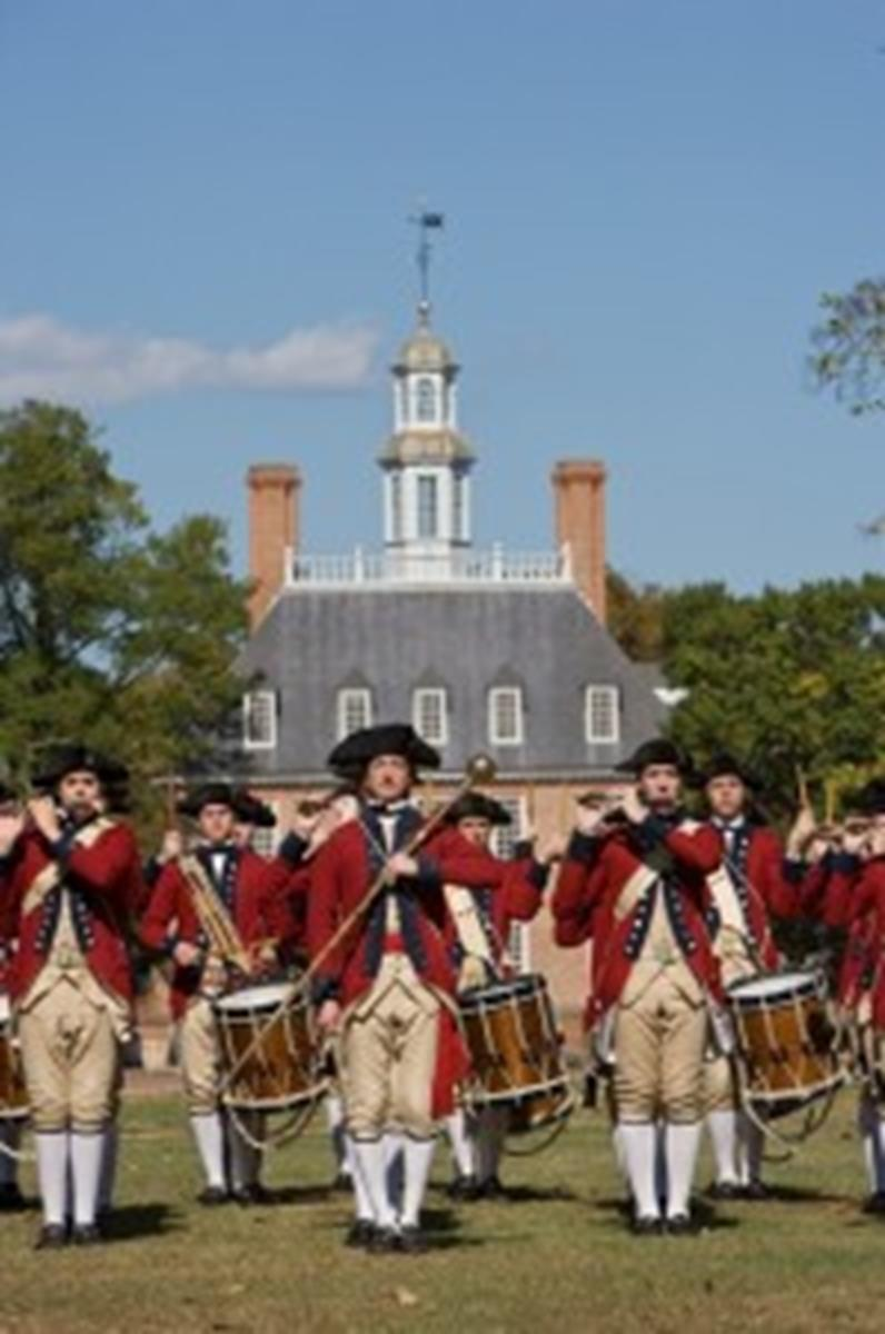 Fife and Drum in front of the Governors Palace