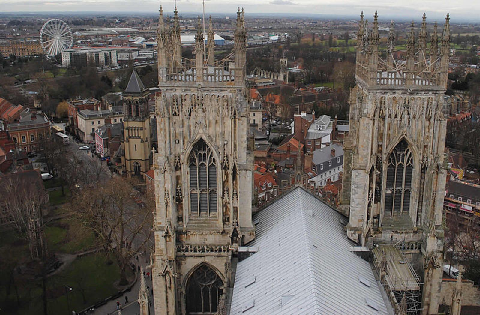 View of York from York Minster. Credit