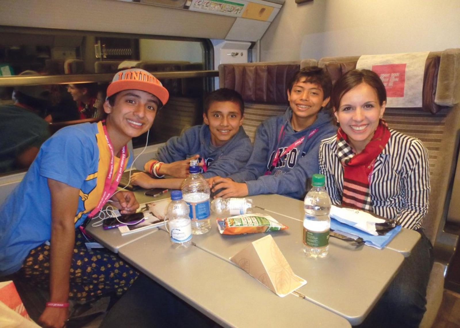 Students on Eurostar