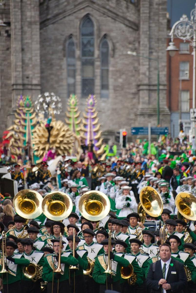 band at Dublin St Patricks Parade