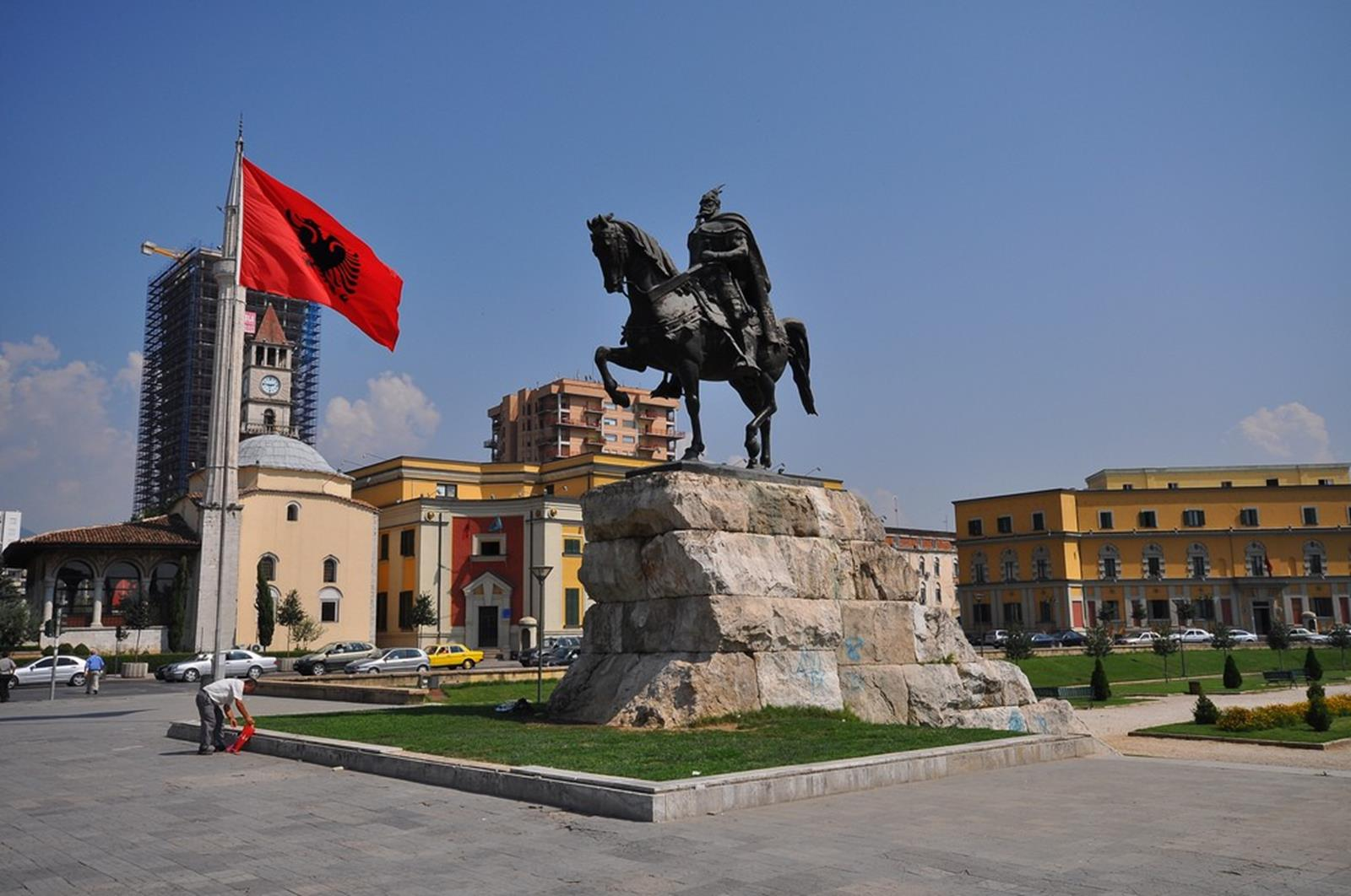 Skanderbeg Square, Tirana. Credit