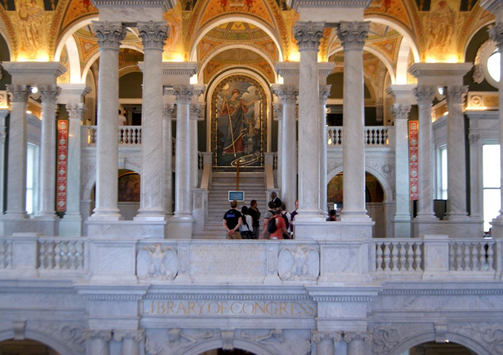 Vestíbul de la Library of Congress Credit https://www.flickr.com/photos/teresa_grau_ros/