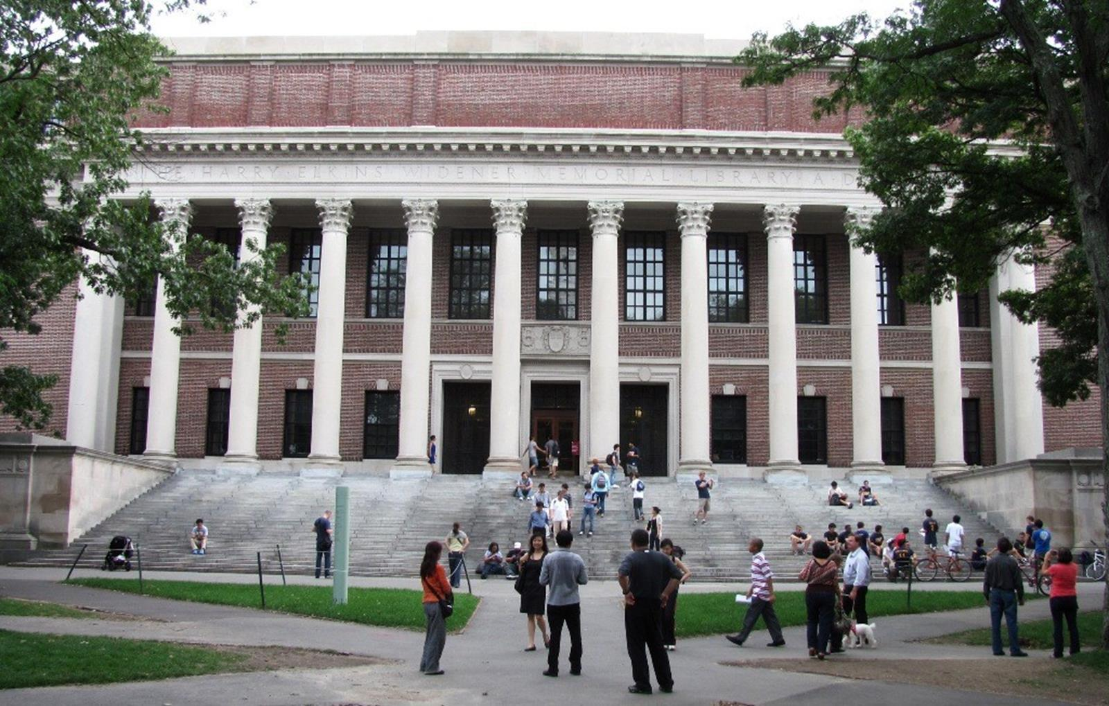 The Widener Library at Harvard University. Credit: John Phelan at en.wikipedia