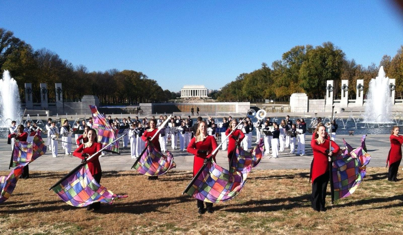 Central Bucks East HS Marching band from Doylestown PA, under the direction of Jason Morehouse. Credit: WorldStrides.