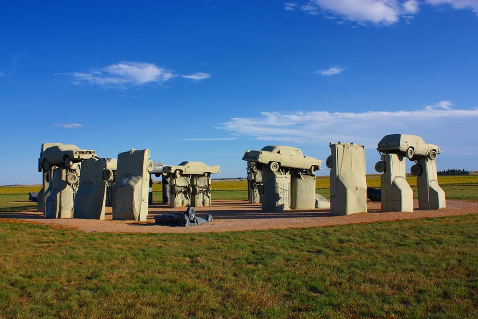 Carhenge sculptures. Credit: Jacob Kamholz at en.wikipedia
