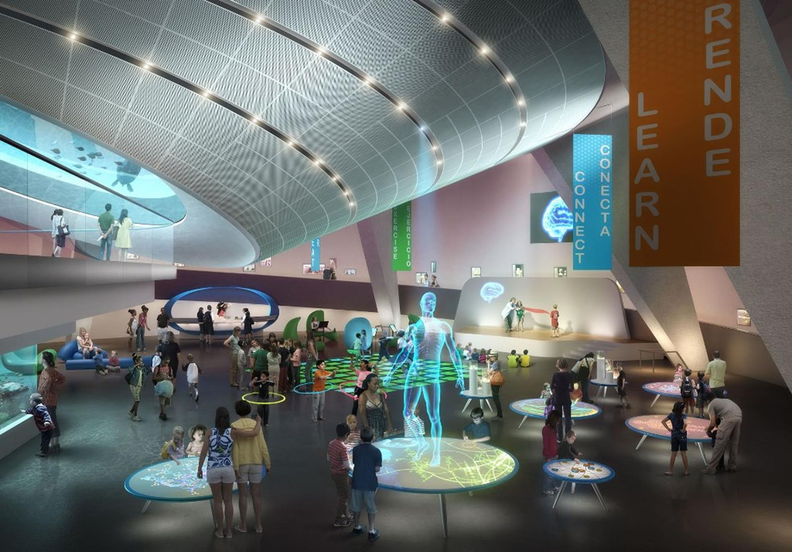 Conceptual Rendering of the Baptist Health People & Science Gallery at Patricia and Phillip Frost Museum of Science. Credit: Patricia and Phillip Frost Museum of Science