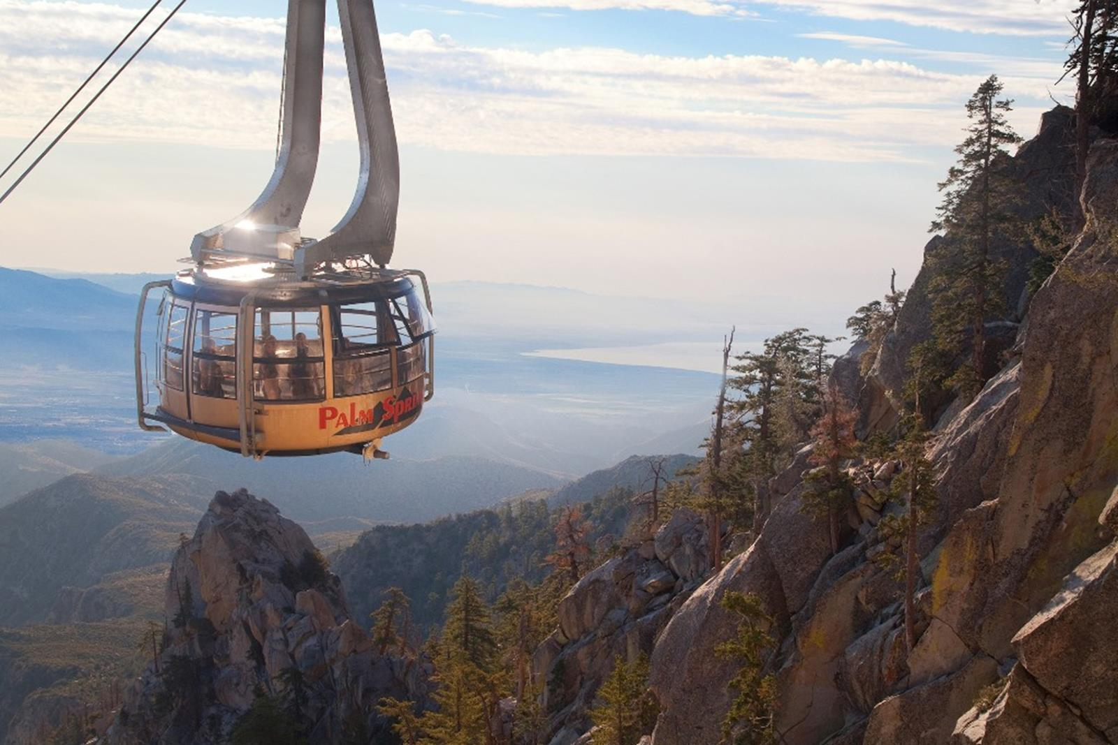 Palm Springs Aerial Tramway with Salton Sea. Credit: Palm Springs Aerial Tramway
