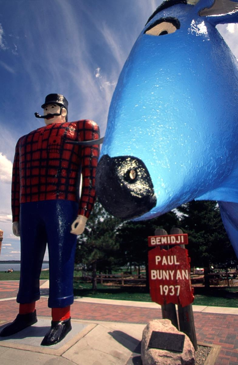 Paul Bunyan and Babe.