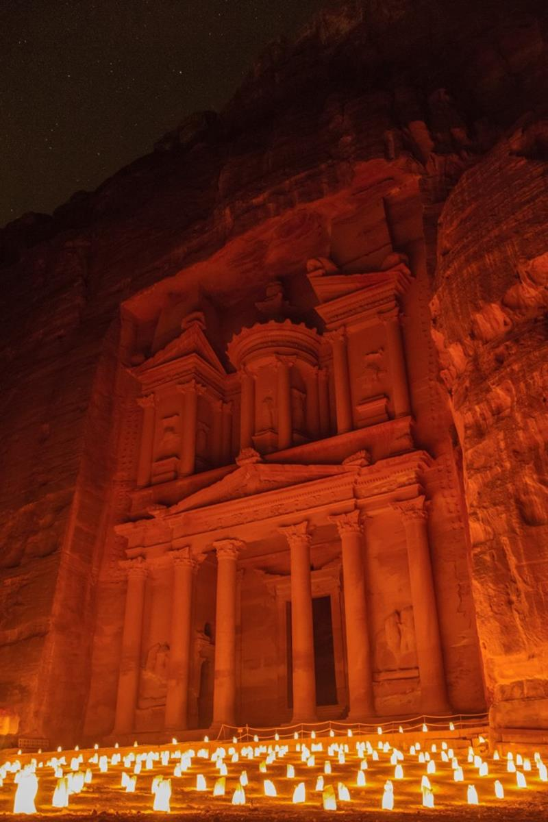 Credit Al-Khazneh Treasury, Petra by Night, Jordan