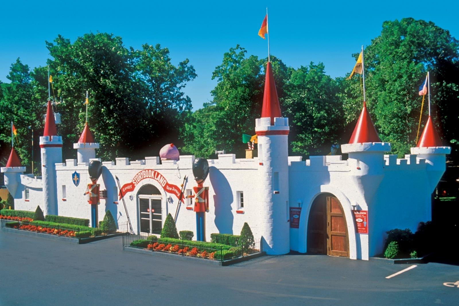 The castle entrance at Storybook Land.