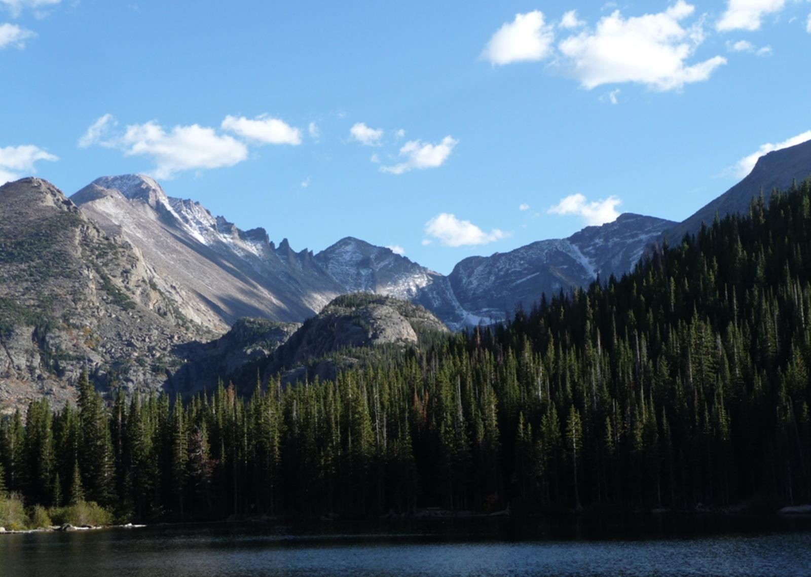 A view of the Rocky Mountains from Bear Lake. Credit: Daniel Mayer at en.wikipedia