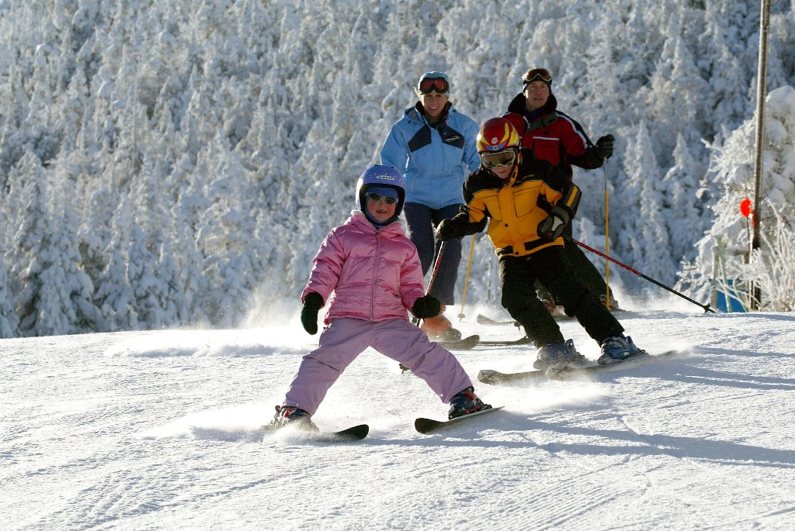 A family of skiers. Credit: Dennis Curran.