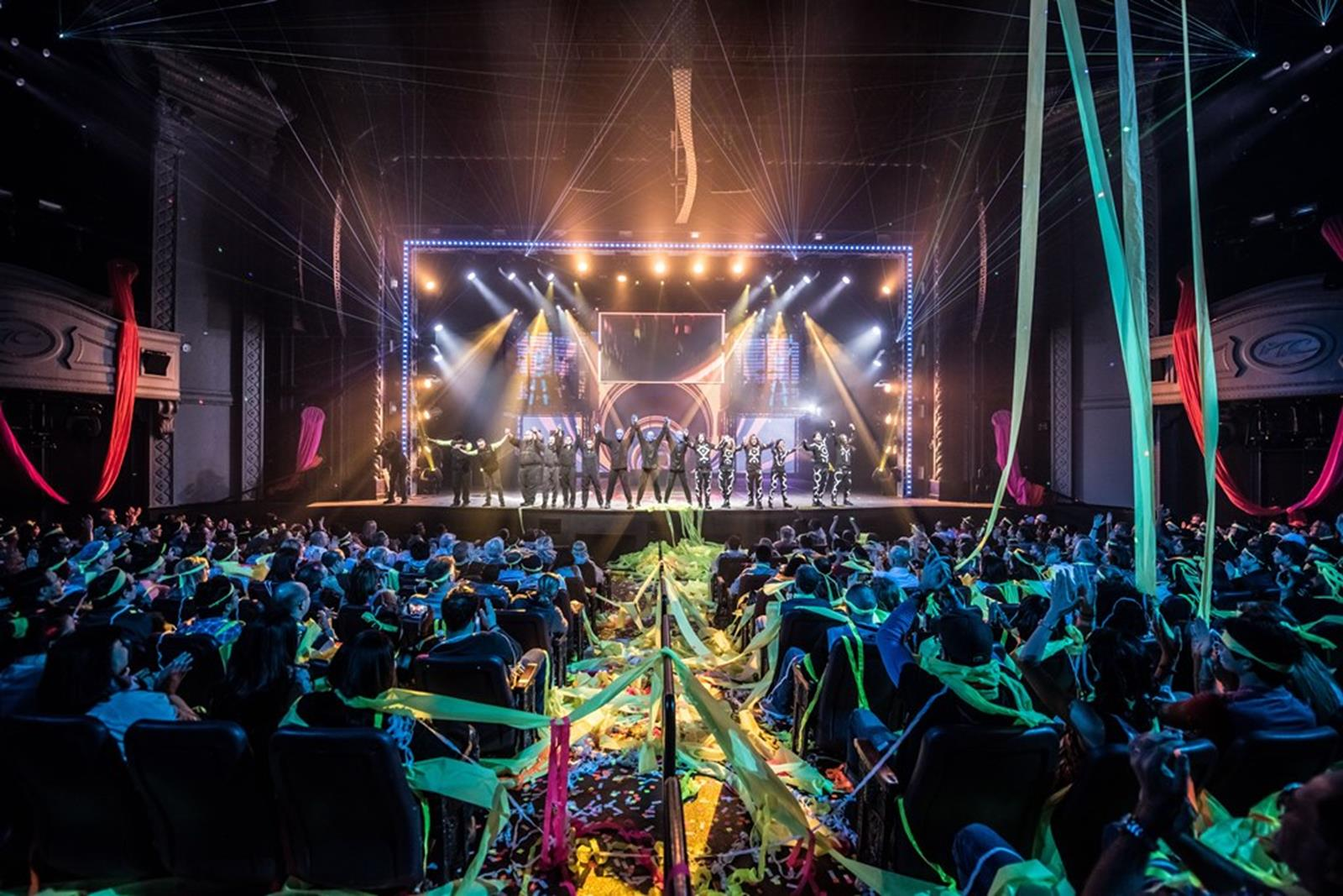 Blue Man Group Cast Bows After Electrifying Finale at Monte Carlo Resort and Casino