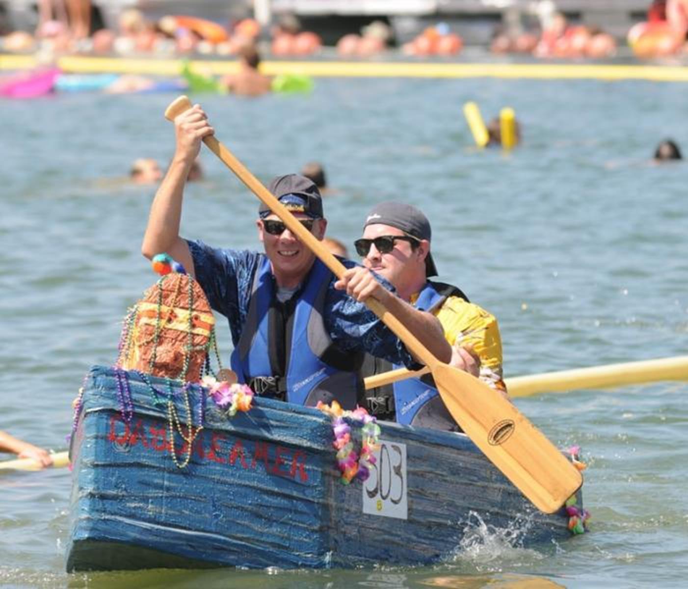 Racers at the Cardboard Boat Races. Credit: Heber Springs.