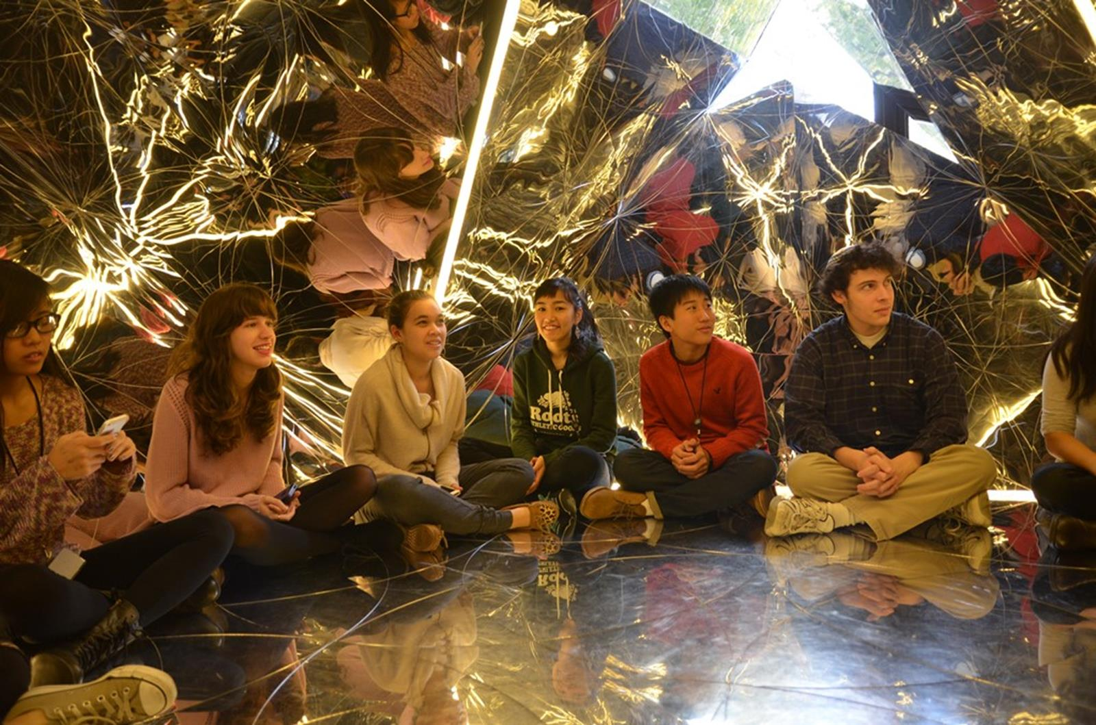 Students explore an exhibit at the Jewish Museum. Credit: Jewish Museum