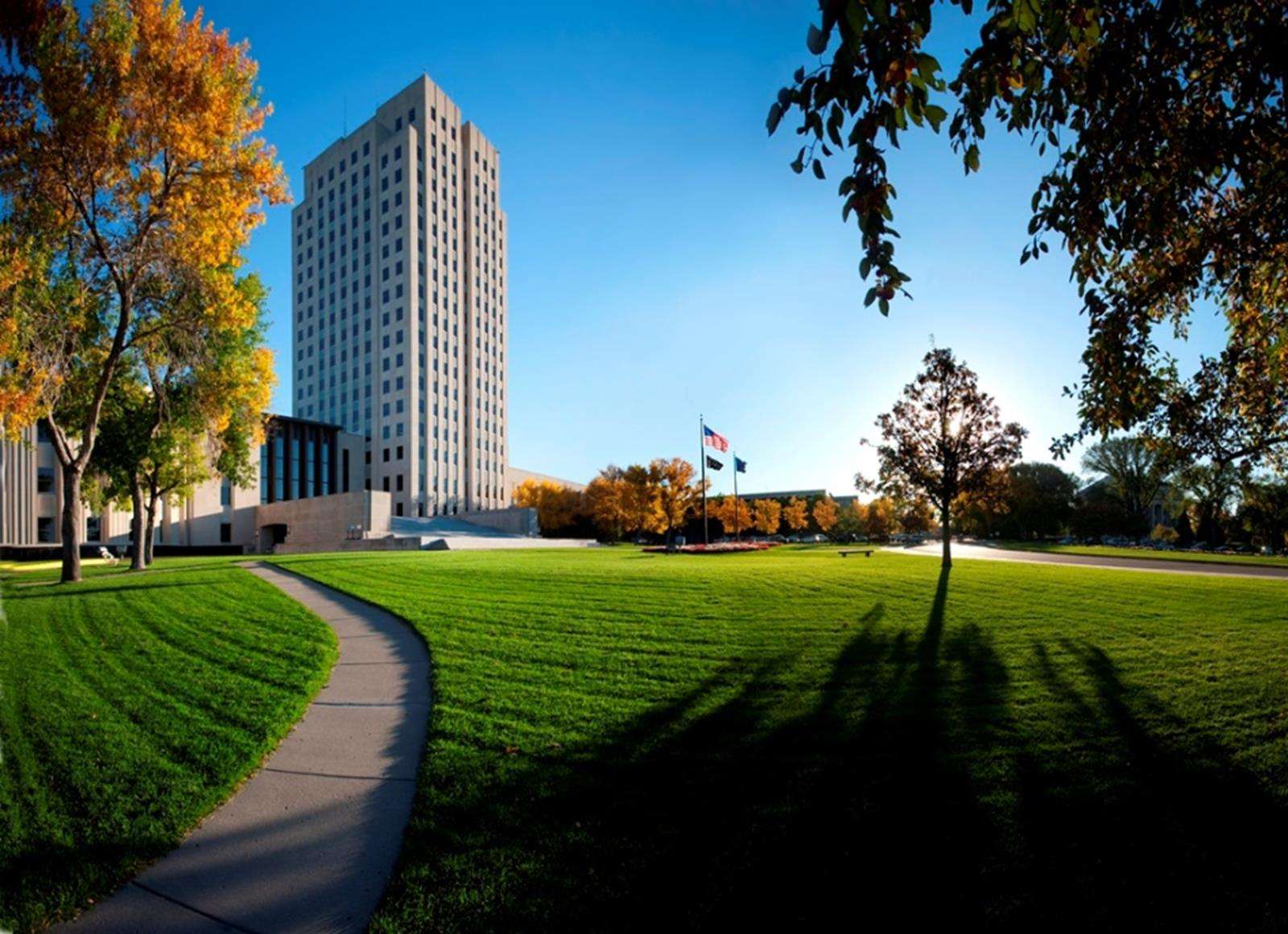 "North Dakota State Capitol Building, ""Skyscraper of the Prairie."" Credit: North Dakota Tourism"