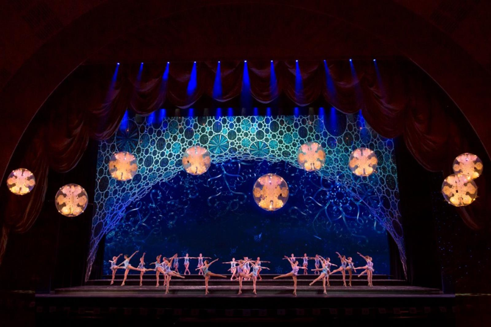 November 5, 2013: Radio City Christmas Spectacular tech rehearsal at Radio City Music Hall.