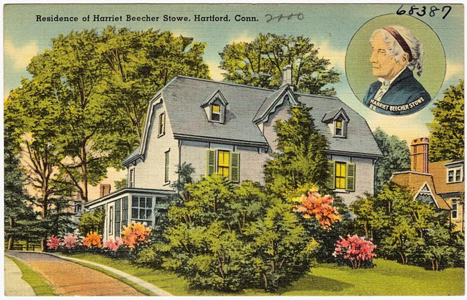 Residence of Harriet Beecher Stowe. Credit: Tichnor Brothers