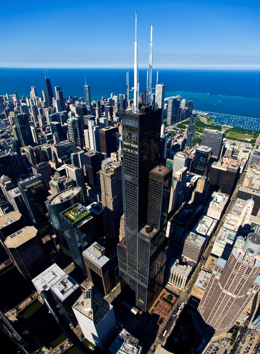 Willis Tower. Credit: Skydeck Chicago at Willis Tower.