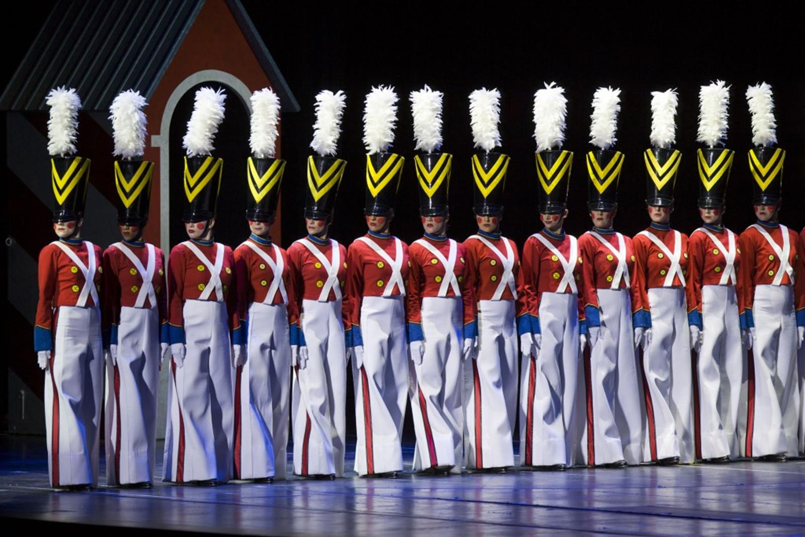"November 9, 2011: Gold cast dress rehearsal for the 2011 Radio City Christmas Spectacular, ""The Rockettes Magical Journey,"" at Radio City Music Hall."