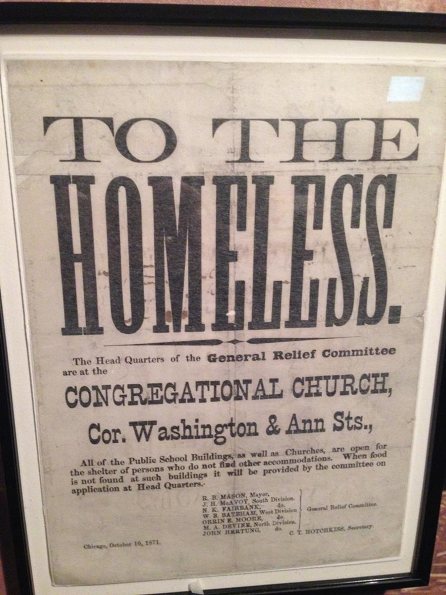 Message circulated after Great Chicago Fire. - Chicago History Museum