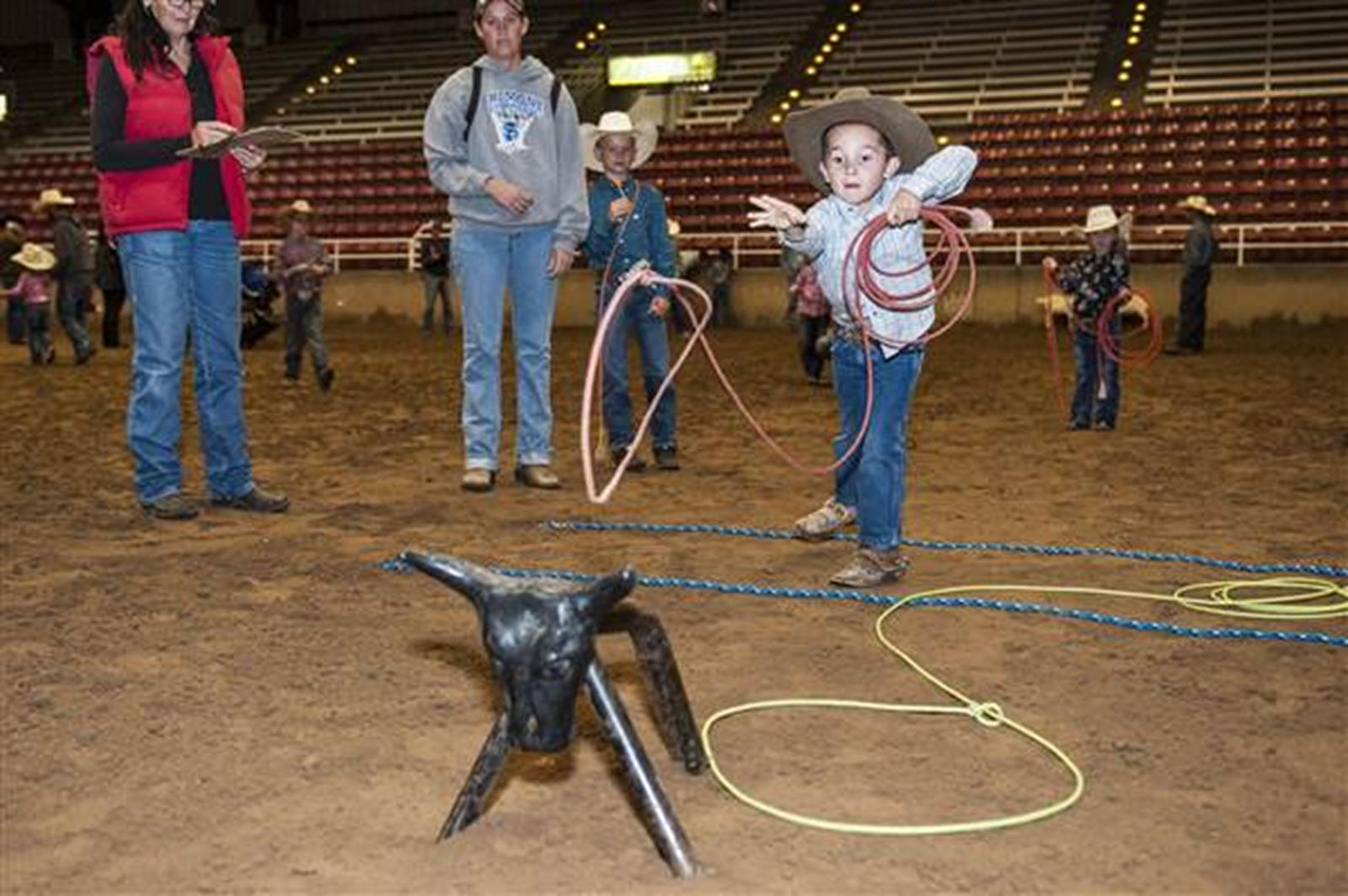 Participating in the youth rodeo competition. Credit: Utah Youth Rodeo Association.