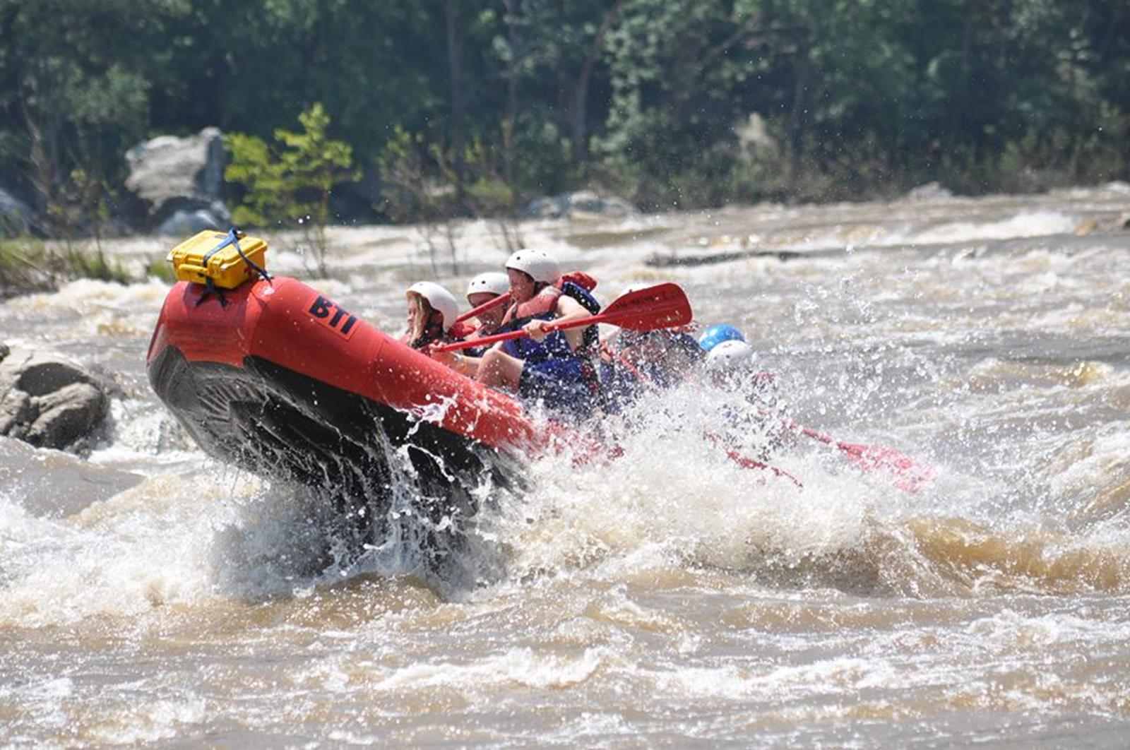 Whitewater rafting. Credit: Harpers Ferry Adventure Center