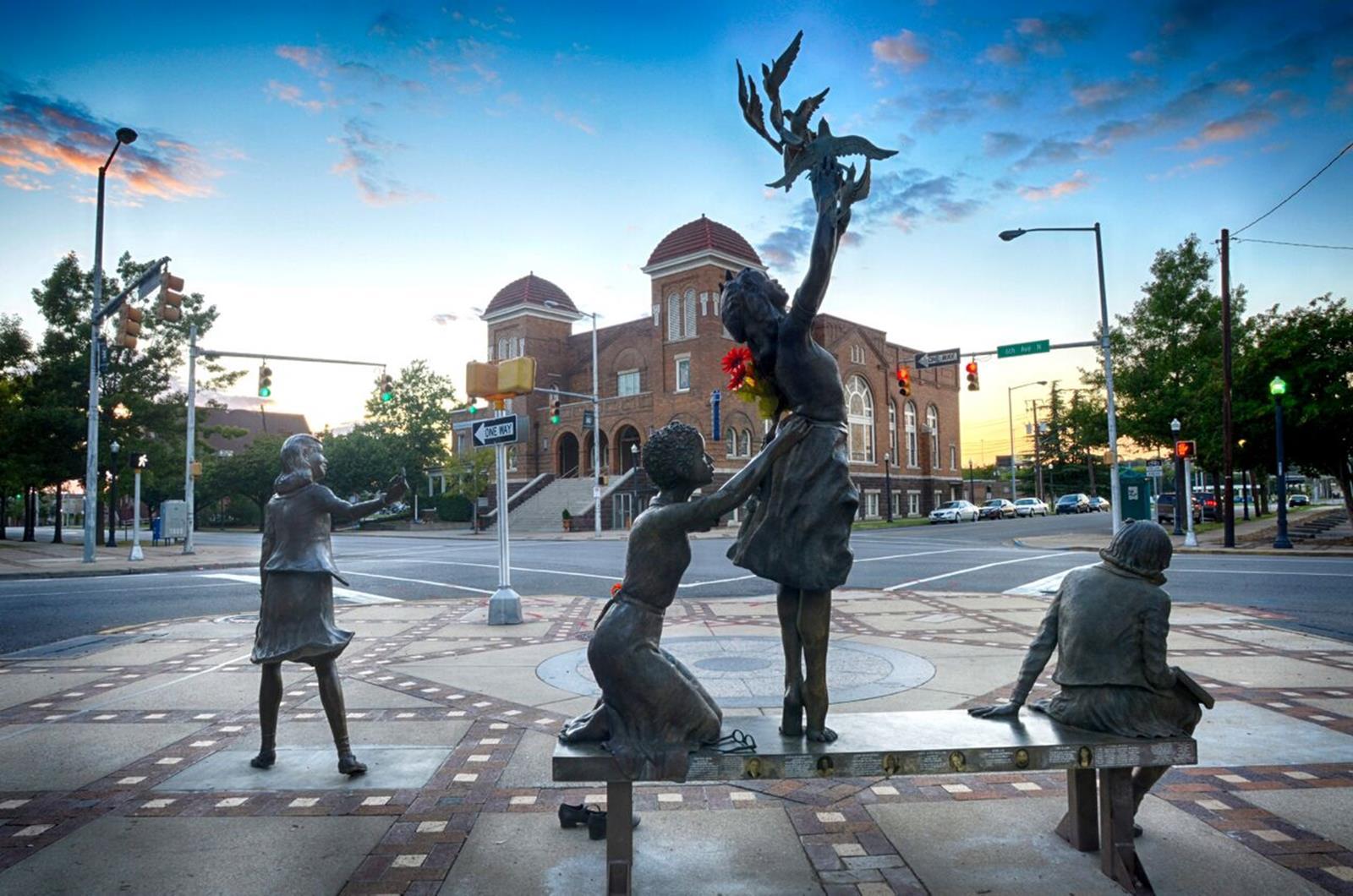 16th Street Baptist Church Memorial Fountain. Credit: Birmingham CVB