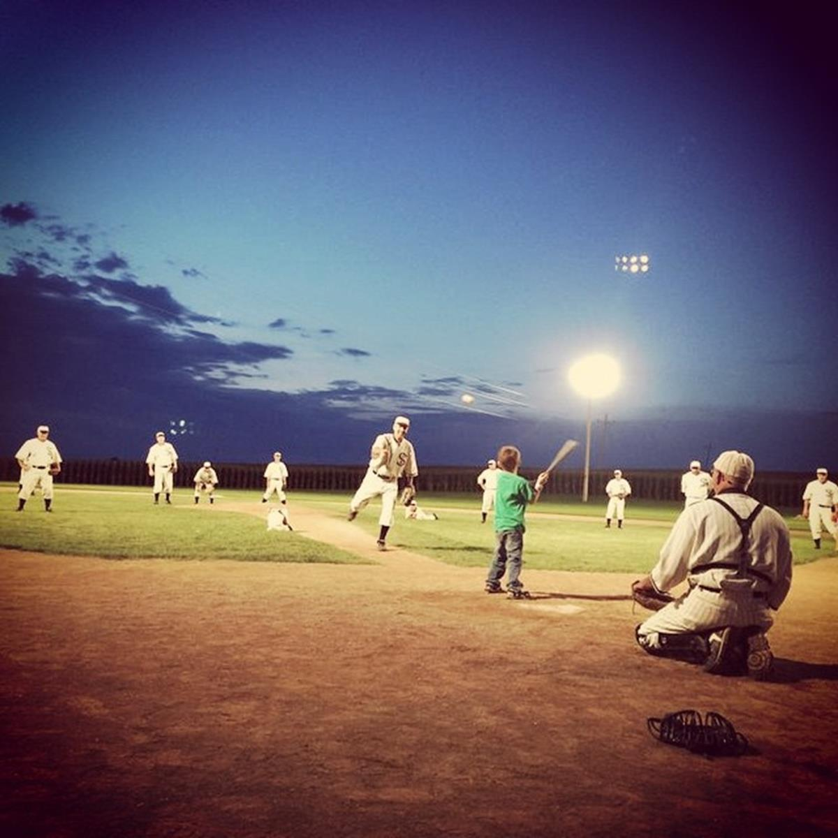 Playing ball. Credit: Field of Dreams Movie Site