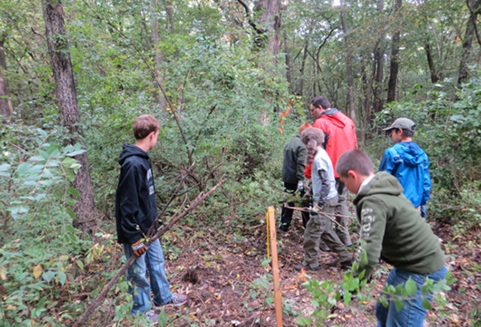 Students building new camp sites. Credit: Polk County Conservation
