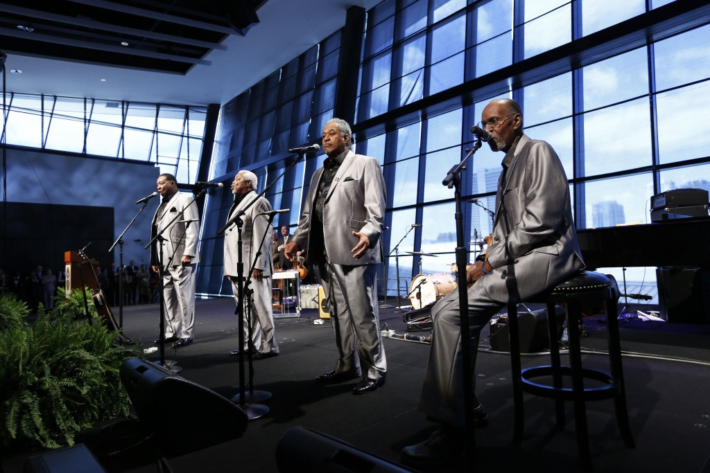 Nashville soul legends The Valentines perform the national anthem at the Country Music Hall of Fame® and Museum expansion celebration _23A0072 Photos by Donn Jones Photography.