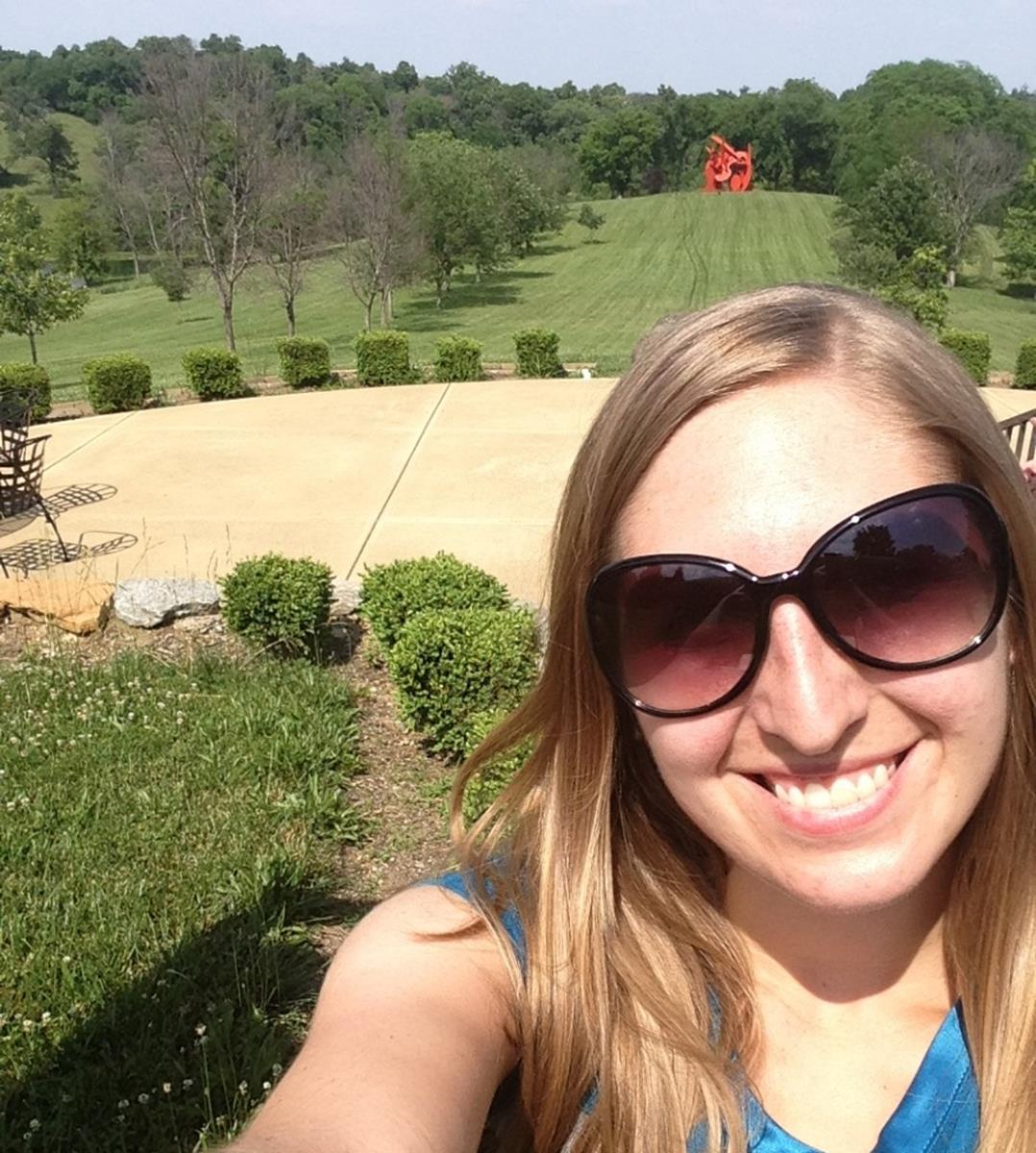 Lauren takes a selfie at the pavilion at Pyramid Hill. Credit: Lauren Reiniger