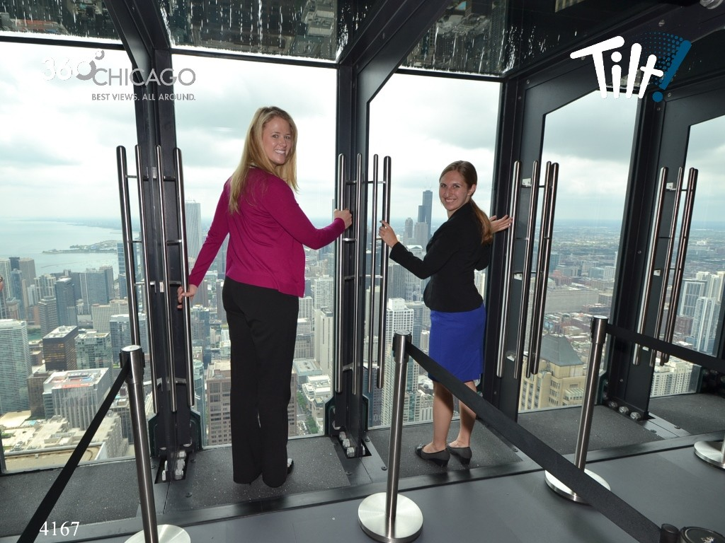 Lauren and host Gina taking on TILT. Credit: 360 Chicago