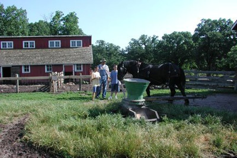 Living History Farm chores on the farm