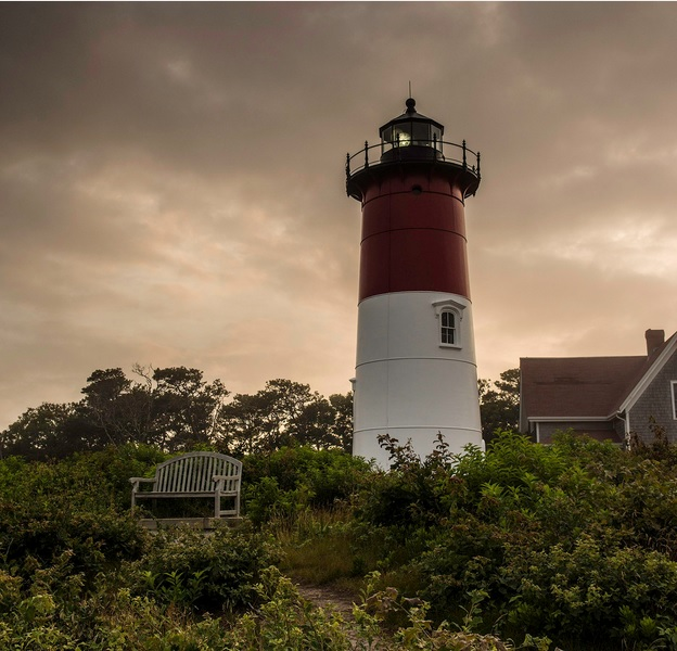 Nauset Light in Eastham. Credit: Bobby Baker Photography