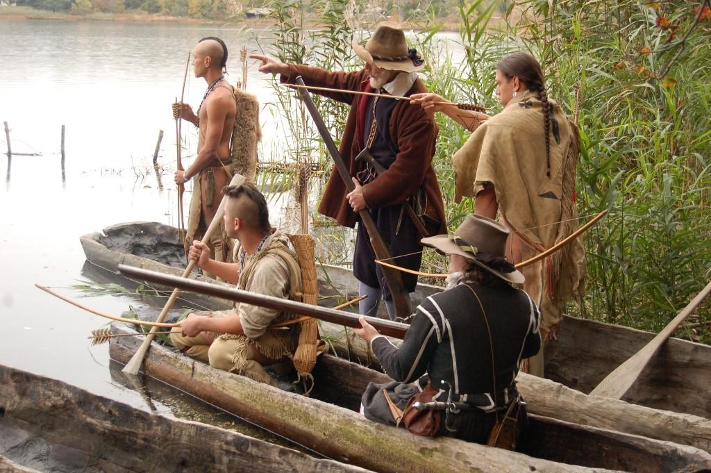 Mishoons and hunting. Credit: Plimoth Plantation