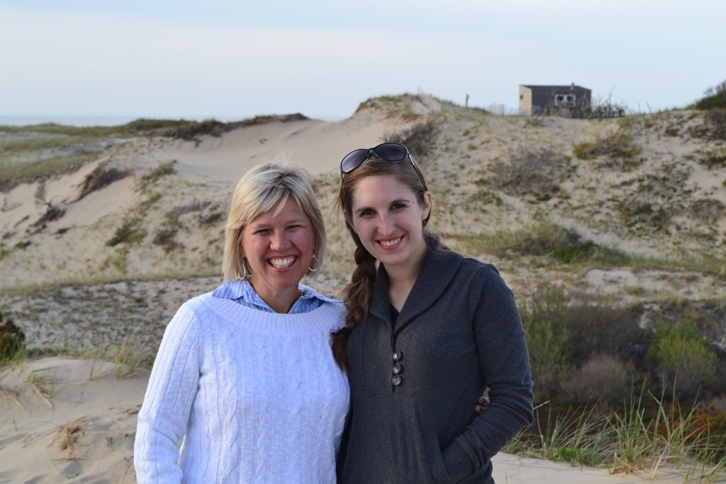 My mom and I at the dunes with Art's Dune Tours. Credit: Lauren Reiniger