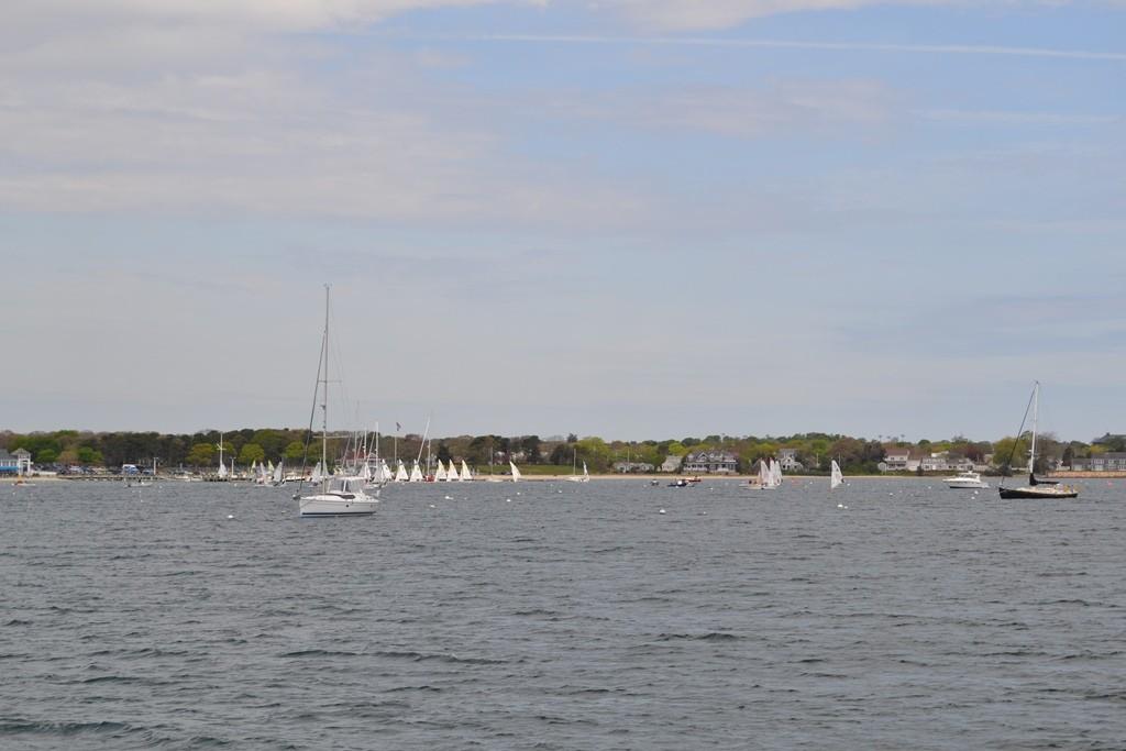 Seeing a sailboat regatta on the Hyannis Harbor Cruise. Credit: Lauren Reiniger